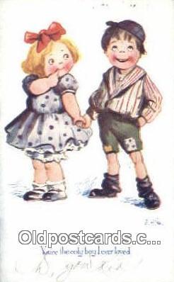 xrt324001 - Artist E.H. Saunders Postcard Post Card, Old Vintage Antique