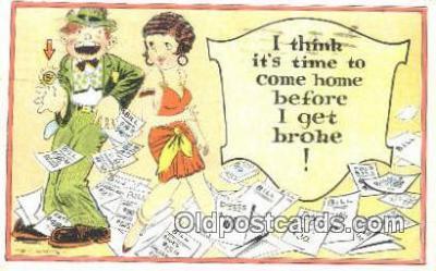 xrt333018 - Artist E.L. White Postcard Post Card, Old Vintage Antique
