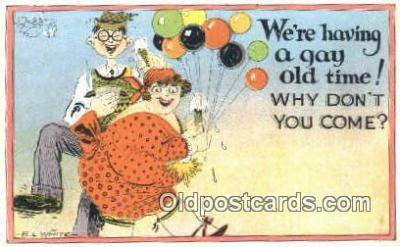 xrt333085 - Artist E.L. White Postcard Post Card, Old Vintage Antique