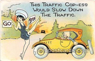 xrt333181 - Artist EL White Traffic Cop Ess Postcard Post Card