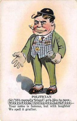 xrt333213 - Artist EL White Politician Postcard Post Card