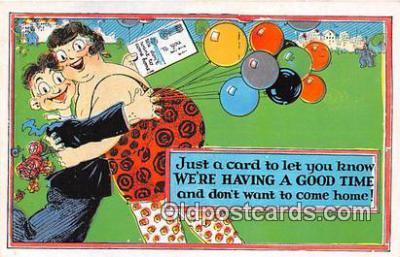 xrt333219 - Artist EL White Having A Good Time Postcard Post Card