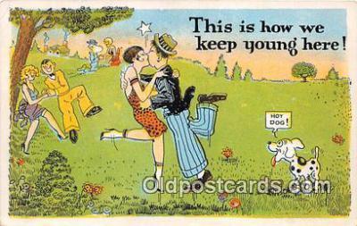 xrt333220 - Artist EL White Hot Dog Postcard Post Card