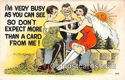 xrt333257 - Artist EL White Very Busy Postcard Post Card