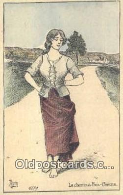 xrt335002 - Artist Jaques Nam Postcard Post Card, Old Vintage Antique