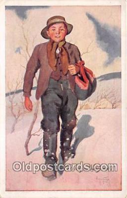 xrt349006 - Artist R Kremlicky Vesely Novy Rok Postcard Post Card