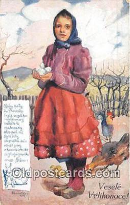xrt349009 - Artist R Kremlicky Vesele Vlikonoce Postcard Post Card