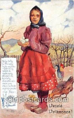xrt349010 - Artist R Kremlicky Vesele Velikonoce Postcard Post Card