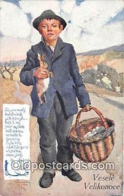 xrt349012 - Artist R Kremlicky Vesele Velikonoce Postcard Post Card