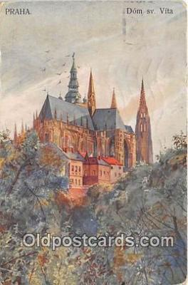 xrt350001 - Artist Kreisingera Praha Dom Sv Vita Postcard Post Card