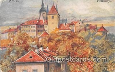 xrt350004 - Artist Kreisingera Praha, Hradcany Postcard Post Card