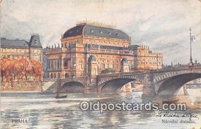xrt350005 - Artist Kreisingera Praha, Narodni Divadlo Postcard Post Card
