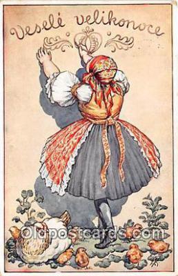 xrt351011 - L Kratochvil Vesele Velikonoce Postcard Post Card