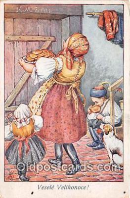 xrt351013 - L Kratochvil Vesele Velikonoce Postcard Post Card
