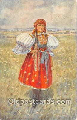 xrt353006 - Eda Kubicek Devce Z Polesovice Postcard Post Card