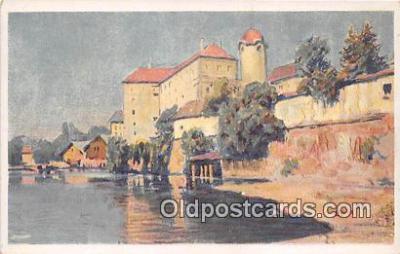 xrt354014 - Artist L Kuba Podebrady Pod Zamkem Postcard Post Card