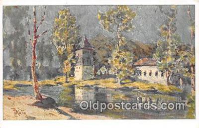 xrt354017 - Artist L Kuba Bad Podiebrad Postcard Post Card