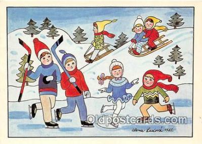 xrt355005 - Kresba Alena Ladova Radostne Vanoce Postcard Post Card