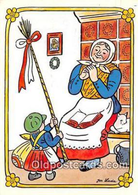 xrt356023 - Artist Josef Lada J Lady Postcard Post Card