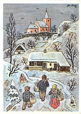 xrt356025 - Artist Josef Lada J Lady Postcard Post Card