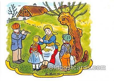 xrt356027 - Artist Josef Lada J Lady Postcard Post Card