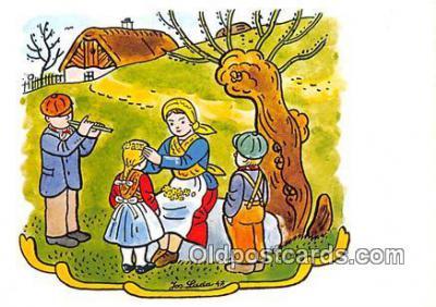 xrt356045 - Artist Josef Lada J Lady Postcard Post Card