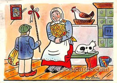 xrt356066 - Artist Josef Lada J Lady Postcard Post Card