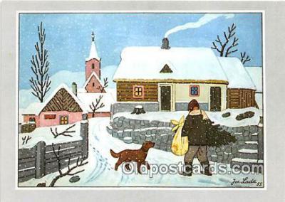 xrt356070 - Artist Josef Lada J Lady Postcard Post Card