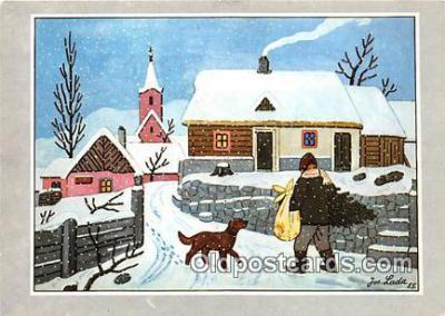 xrt356076 - Artist Josef Lada J Lady Postcard Post Card