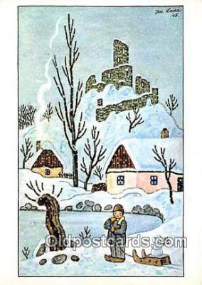 xrt356082 - Artist Josef Lada J Lady Postcard Post Card