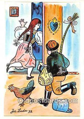 xrt356087 - Artist Josef Lada J Lady Postcard Post Card