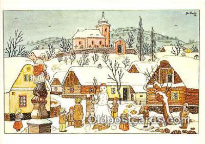 xrt356091 - Artist Josef Lada J Lady Postcard Post Card