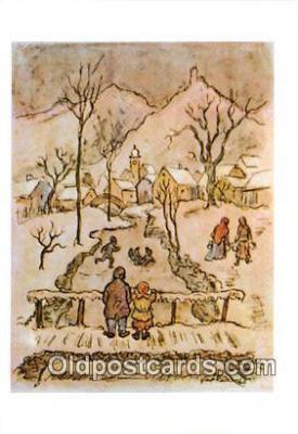 xrt356099 - Artist Josef Lada Greetings Postcard Post Card