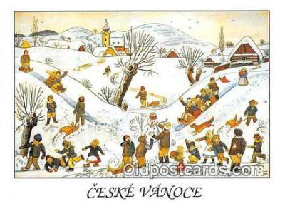 xrt356102 - Artist Josef Lada Detske Hry V Zime Postcard Post Card