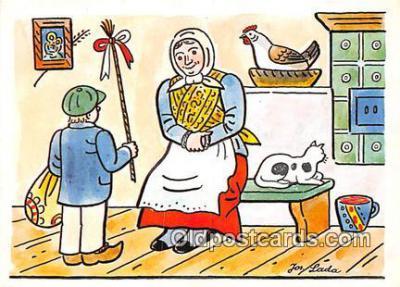 xrt356105 - Artist Josef Lada J Lady Postcard Post Card