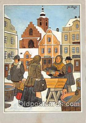 xrt356115 - Artist Josef Lada J Lady Postcard Post Card