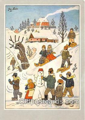 xrt356116 - Artist Josef Lada J Lady Postcard Post Card