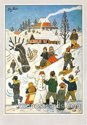 xrt356119 - Artist Josef Lada J Lady Postcard Post Card