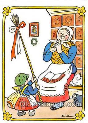 xrt356123 - Artist Josef Lada J Lady Postcard Post Card