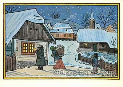 xrt356129 - Artist Josef Lada J Lady Postcard Post Card