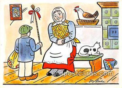 xrt356136 - Artist Josef Lada J Lady Postcard Post Card