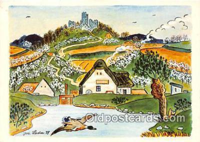 xrt356137 - Artist Josef Lada J Lady Postcard Post Card