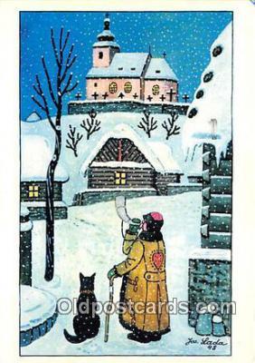xrt356144 - Artist Josef Lada J Lady Postcard Post Card