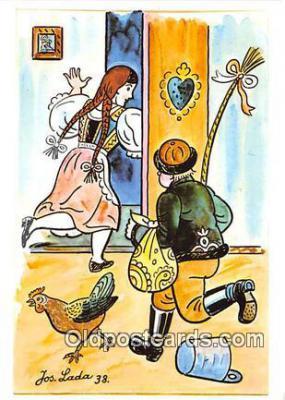 xrt356153 - Artist Josef Lada J Lady Postcard Post Card