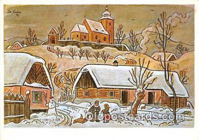 xrt356163 - Artist Josef Lada J Lady Postcard Post Card