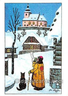 xrt356165 - Artist Josef Lada J Lady Postcard Post Card
