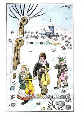xrt356172 - Artist Josef Lada J Lady Postcard Post Card