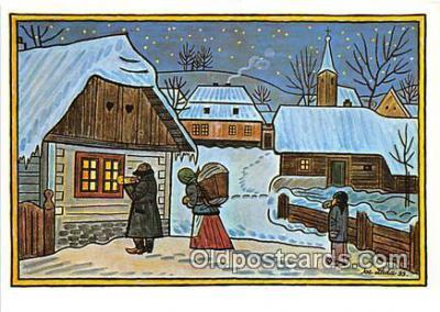 xrt356180 - Artist Josef Lada J Lady Postcard Post Card