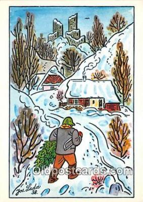 xrt356185 - Artist Josef Lada J Lady Postcard Post Card