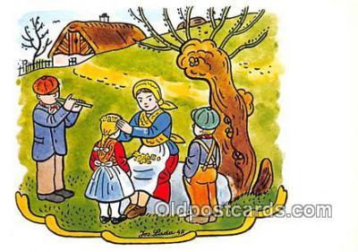 xrt356193 - Artist Josef Lada J Lady Postcard Post Card